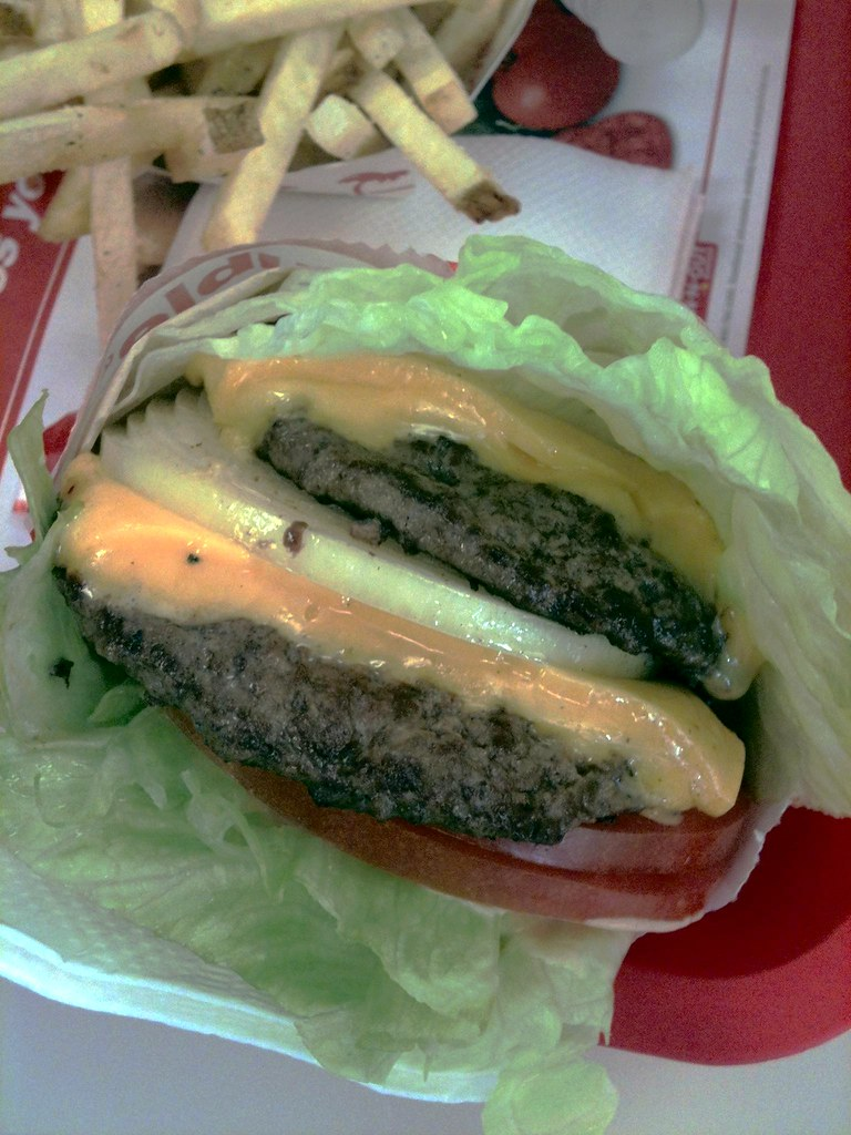 In N Out Menu >> Protein Style Lettuce Wrap Cheese Burger | In-N-Out Burger D… | Flickr