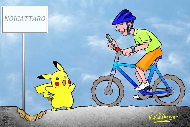 Noicattaro. Pericolo bici per strada vignetta intero