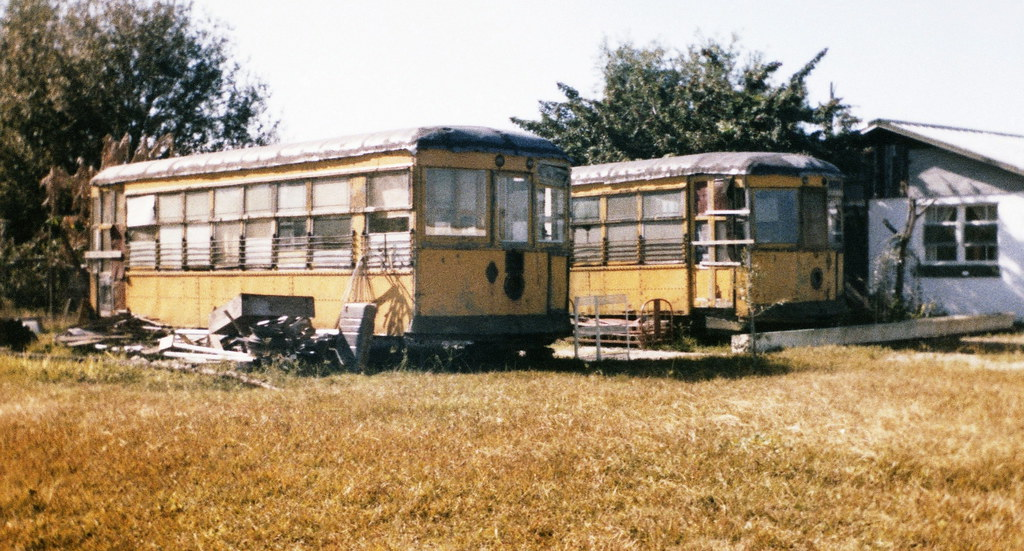 Old Tampa Electric Company Teco Derelict Streetcars Are