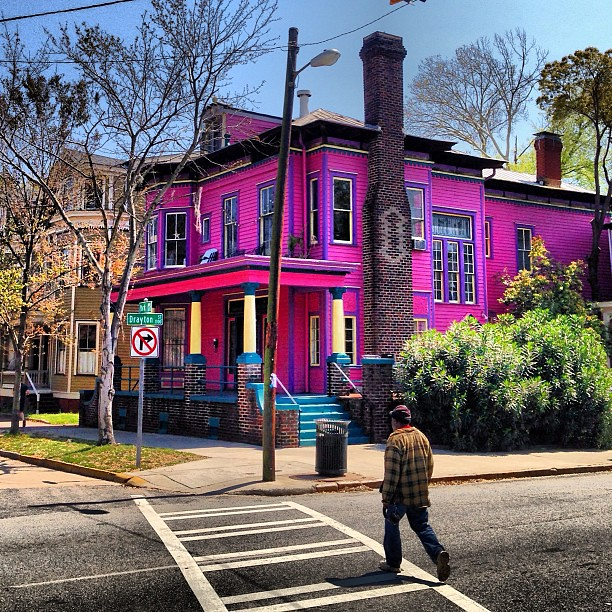 The Only Purple House In Downtown Historic Savannah Georg