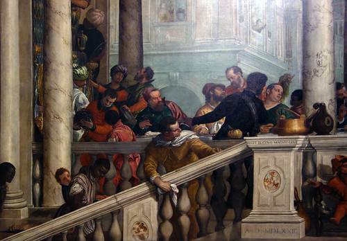 Detail of left stair, Paolo Veronese, Feast in the House o ...
