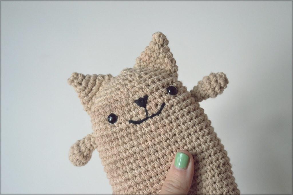 Gatito Gatito tejido/ Knitted little cat Amigurumi ...
