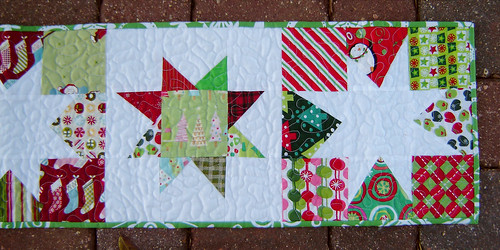 Christmas Wonky Star Table Runner 1 Detail 2 | by Marci Girl Designs