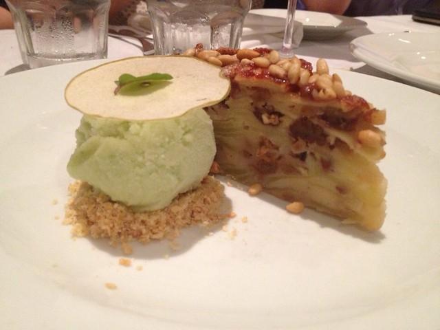 Apple, pecan and pine nut torte with apple gelato   Yelp Bri ...