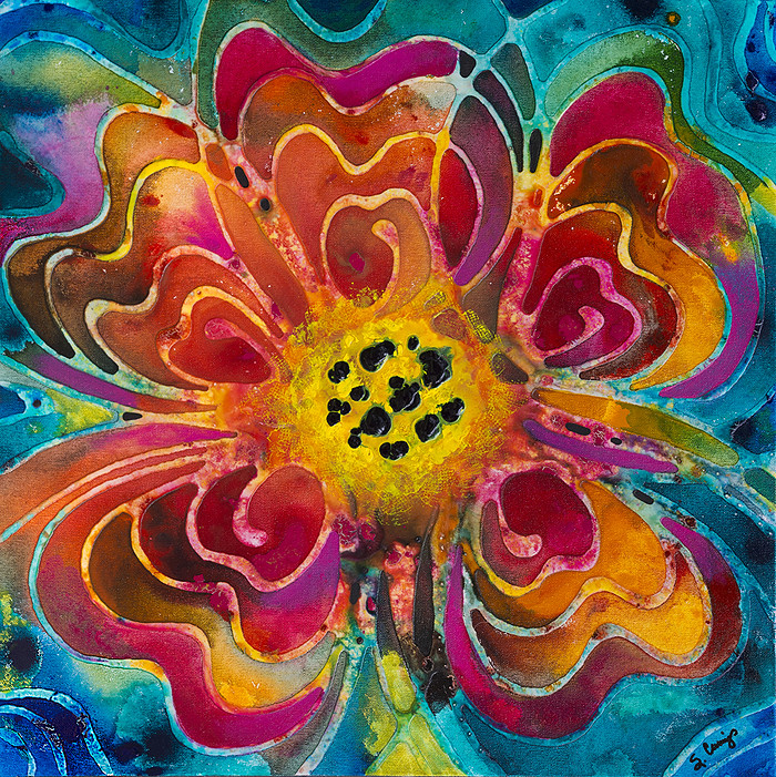 Summer love colorful abstract flower fineartamerica for Abstract posters for sale