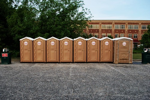 porta potty row | by dissuadedotorg