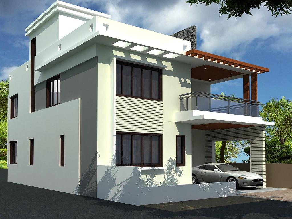 Modern duplex house design by apnagharhd