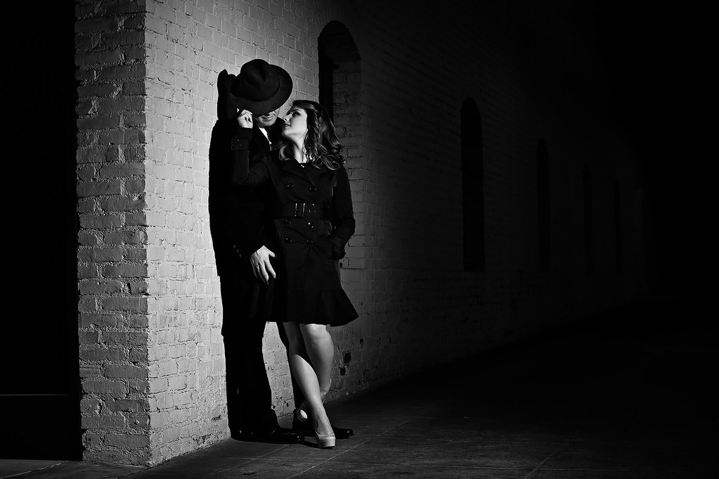Film Noir Style Engagement 1 Lighting Setup Ab800 With