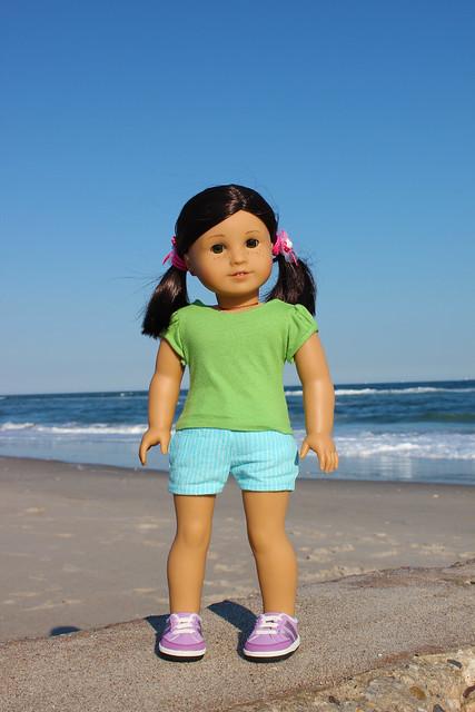 Inky & Zoya at the Beach