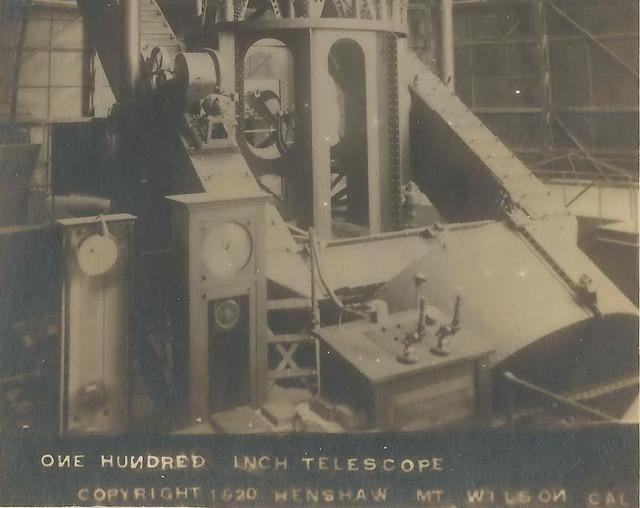 US CA Mt Wilson CA RPPC 1920 Hooker 100 inch Optics Telesc ...
