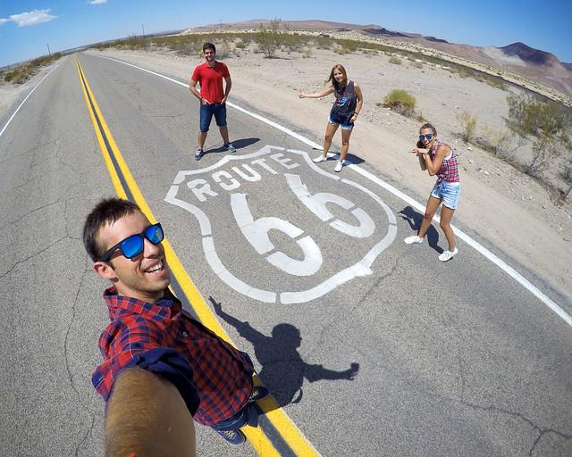 En uno de los tramo de la ruta 66 de Estados Unidos