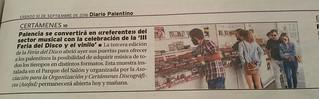 III Feria del Disco de Palencia. Diario Planetino