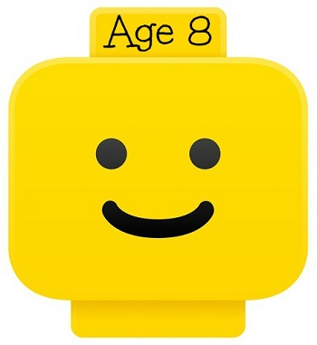LEGO smiley head for age 8