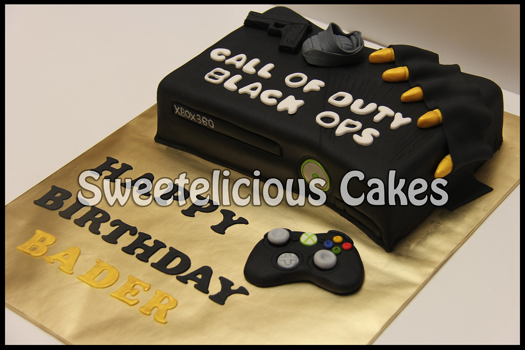 Xbox 360 Kinect Call Of Duty Black Ops Game Cake Flickr