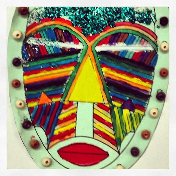 Elementary School Kuba Mask Art Project Art Craft K