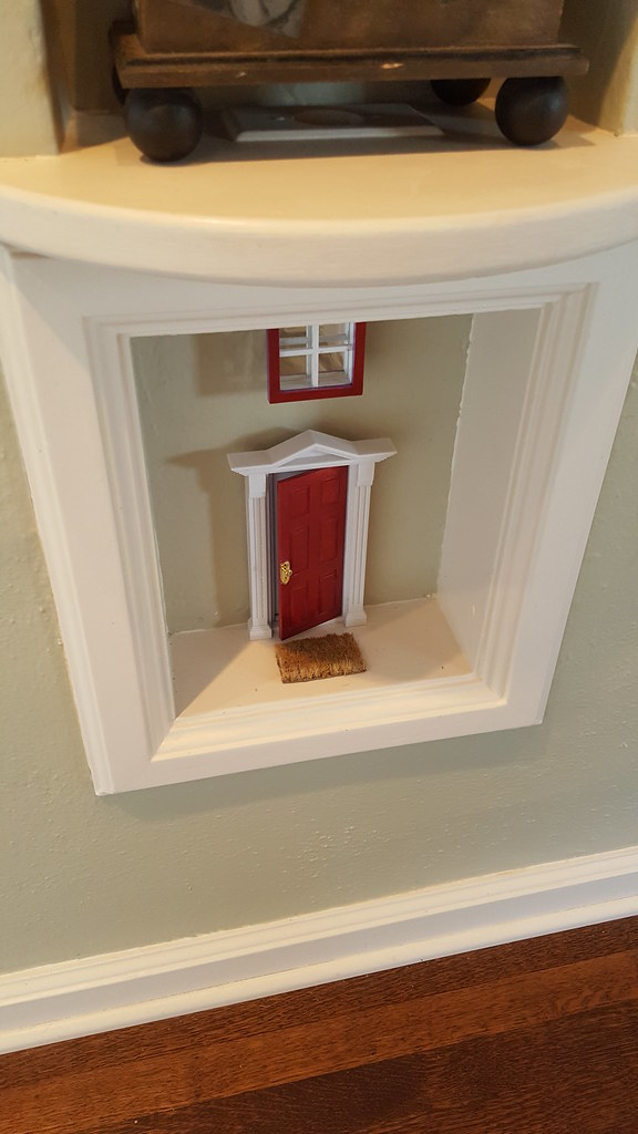 ... Fairy door in old phone cubby | by Armour Cottage & Fairy door in old phone cubby | Armour Cottage | Flickr
