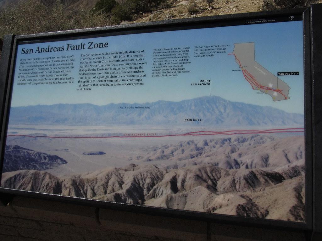 San Andreas Fault Keys View Joshua Tree National Park C