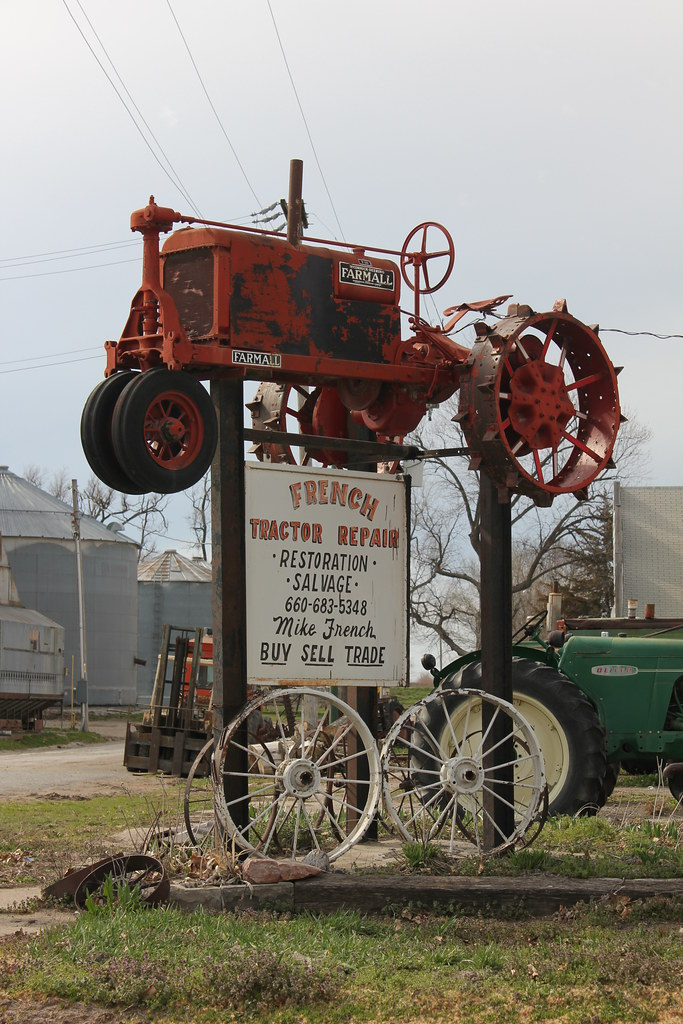 1940s Tractor Repair Signs : French tractor repair sign craig mo tom mclaughlin