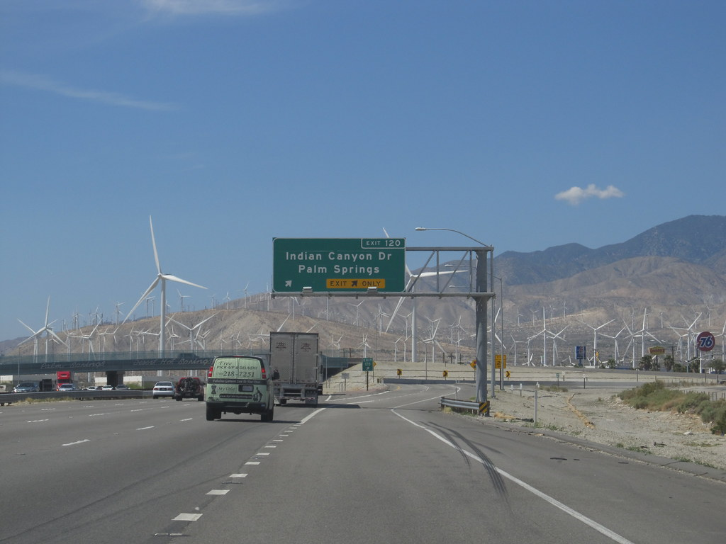 I 10 Turnoff To Palm Springs California By Ken Lund