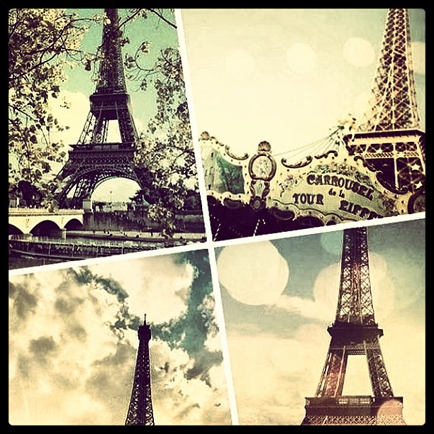 Vintage Eiffeltower Collage Circus Photos Pictures