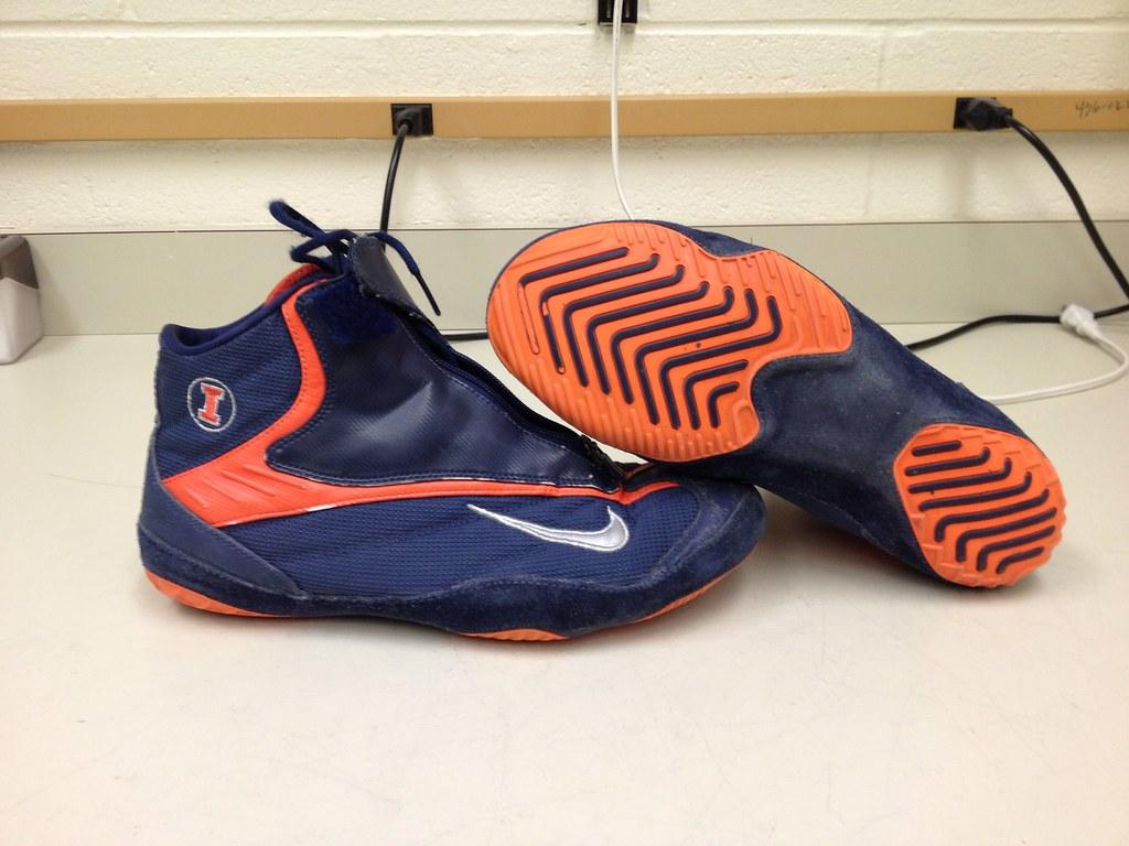 ... 2nd Pair of Nike Kolat 2 Wrestling Shoes - Illini   by tcbyrd
