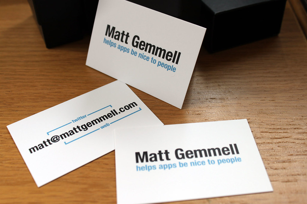 My new business cards | From moo.com | Matt Gemmell | Flickr