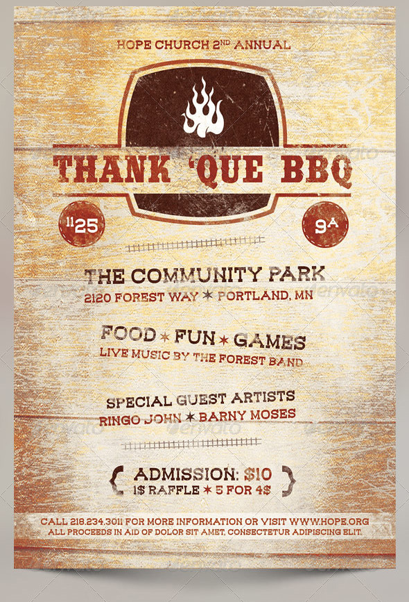 Thank Que Western Bbq Charity Flyer Template The Thank Q Flickr