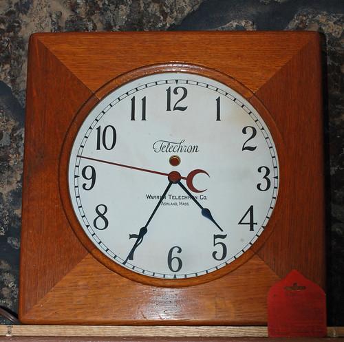 Telechron Clock Model 201 Circa 1930 This Model Was