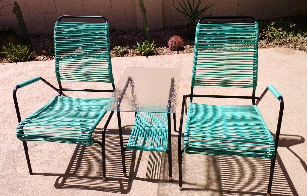 New Old Patio Furniture This Is One Set Of Two I Found Flickr - Patio furniture atlanta 2