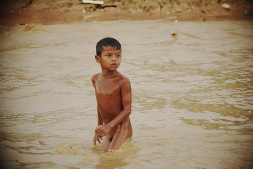 Cambodia | Children Swimming and Playing Together