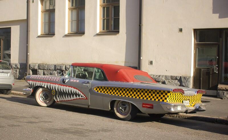 shark car, old car, car shark, shark painted car, crocodile car, crocodile painted car, helsinki, finland, visit finland, travel, travel finland, travel helsinki, things to do in helsinki, what to do helsinki, helsinki stuff, helsinki visit
