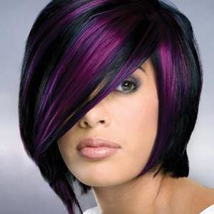 black hair purple highlights black staright hair that is