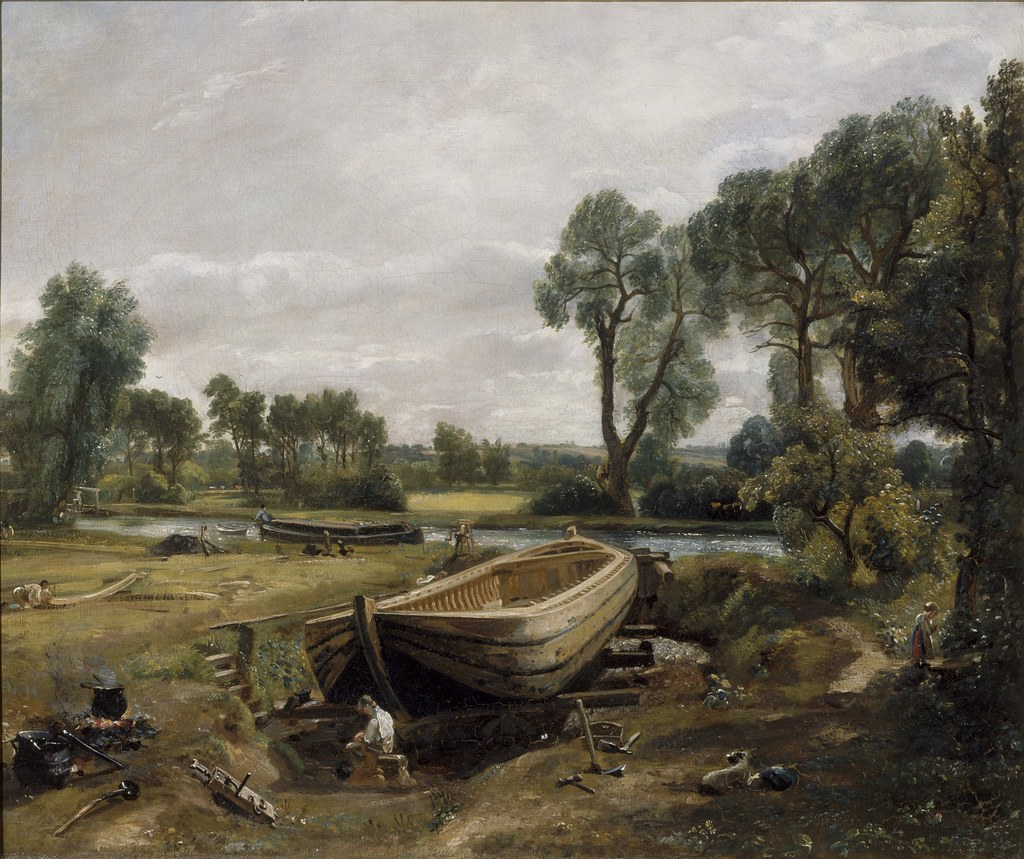 John Constable - Boat Building Near Flatford Mill [c.1815]…   Flickr