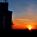 Engel Grain Elevator at Sunset
