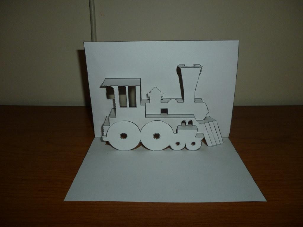 Kirigami Train Engine