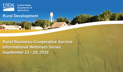 Rural Business-Cooperative Service Informational Webinar Series graphic