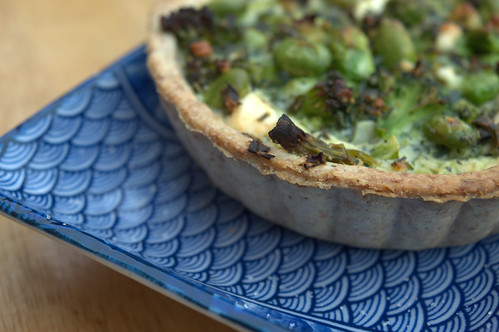 Feta, Edamame, Broccoli & Mint in a Spelt and Rye pastry case | by Tony Worrall