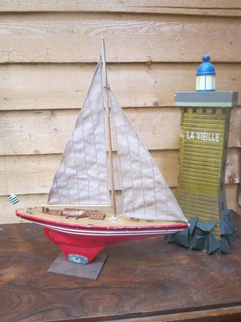Bateau de bassin ancien maquette naviguante canot voilier flickr - Voilier de bassin ancien nanterre ...