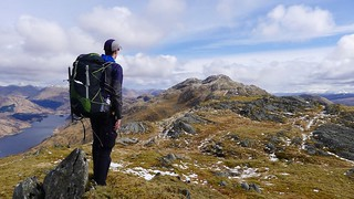 Looking back to Sgurr Ghiubhsachain | by Nick Bramhall