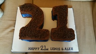 21 numbered chocolate covered birthday cake | by platypus1974