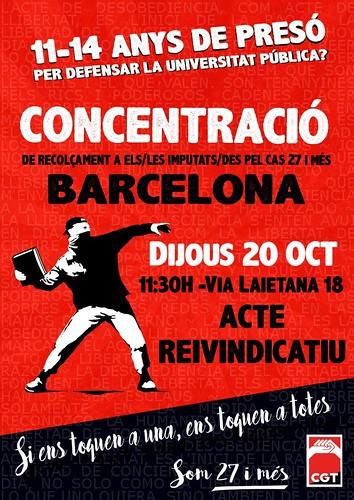 Concentració 27 i més Barcelona