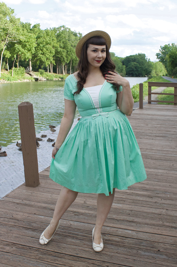 mint sailor dress