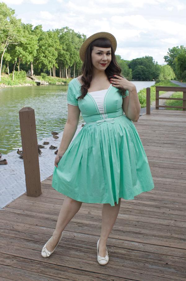 mint sailor dress