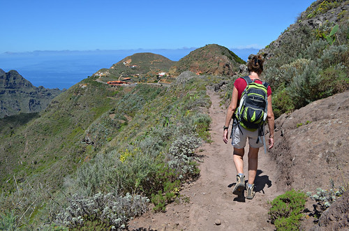 Walking to Chinamada, Anaga, Tenerife