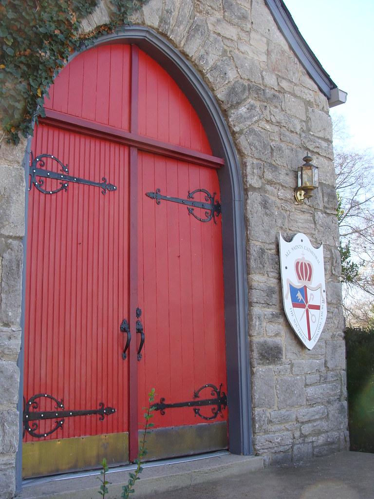 Episcopal Church With Red Door Nashville Tn Lamar Flickr