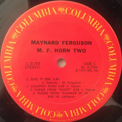 MAYNARD FERGUSON:M.F. HORN TWO(LABEL SIDE-A)