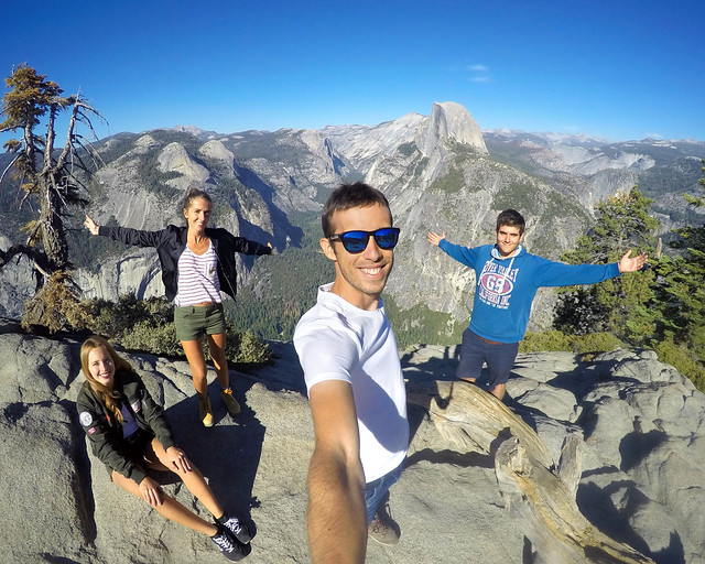 En el Glacier Point de Yosemite