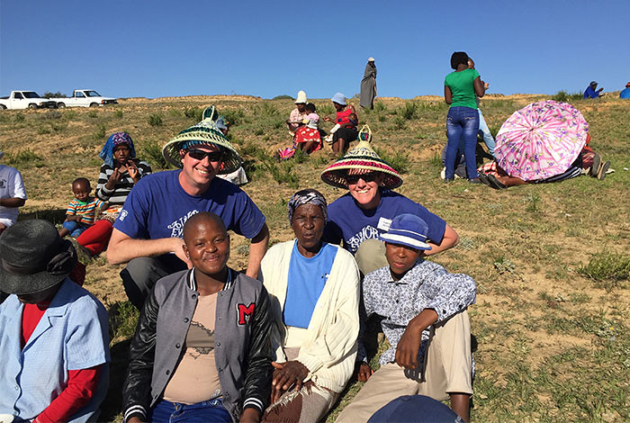 Ken and Laura McClellan traveled to the Ha-Mokuba village in Lesotho, Africa, to help build a new home for the Lecheko family.