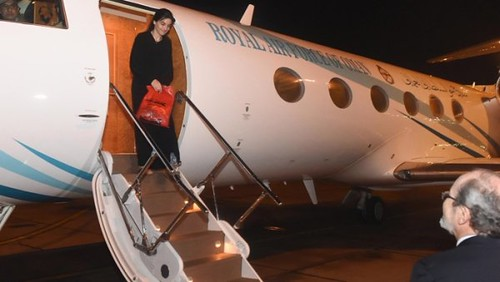 nurane hawas arrives at Muscat Airport