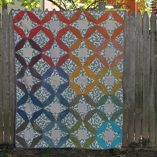 Jewelweed Hand Dyed Fabric Quilt | by DanaK~WaterPenny